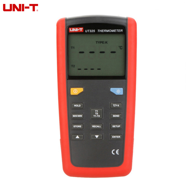 ФОТО UNI-T UT325 T1-T2 Dual Input Digital Thermometer Temperature Tester