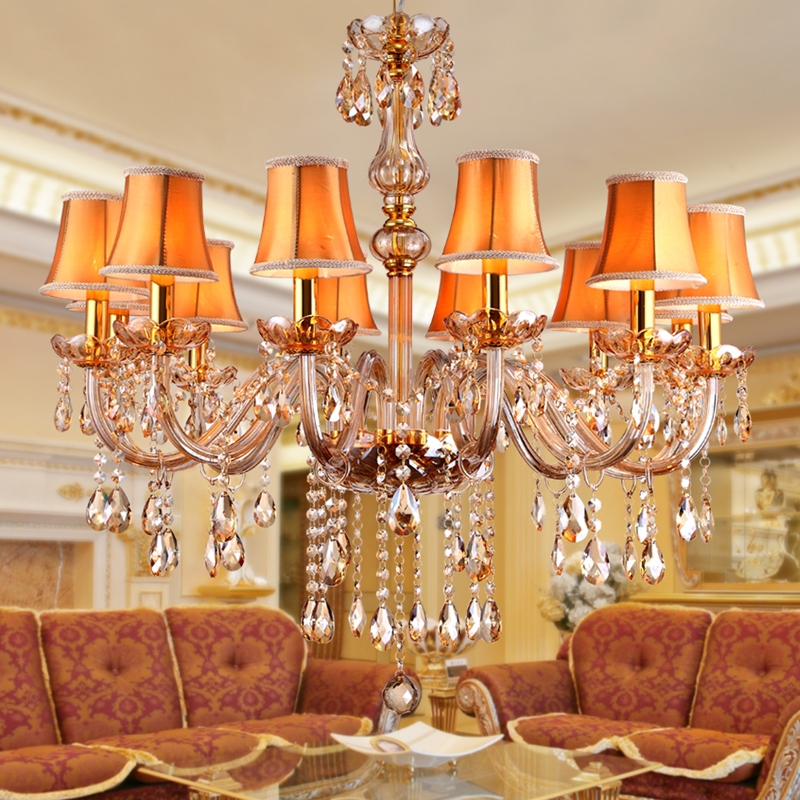Modern amber crystal chandeliers lighting hanging lights modern amber crystal chandeliers lighting hanging lights contemporary cristal glass chandelier light for home hotel restaurant in chandeliers from lights aloadofball Gallery