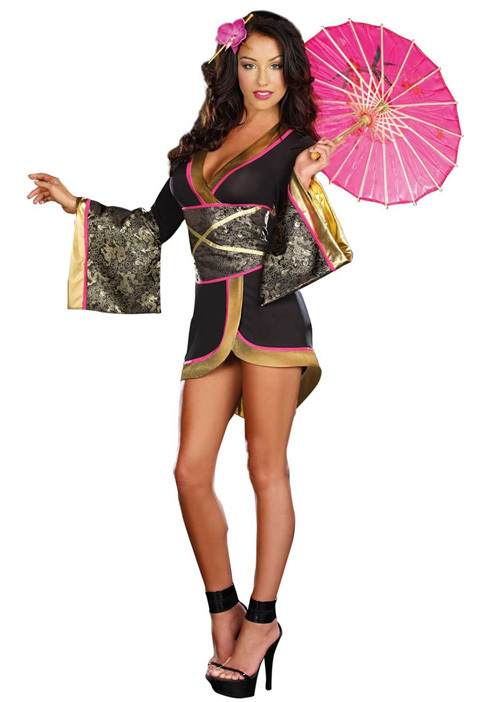 glam geisha costume adult asian persuasion costume 3s1465 free shipping hot sale sexy geisha costume sexy - Halloween Costumes Prices