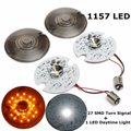 1set 12V 1157 LED Dual Daytime Running Turn Signal Light Panel For Harley Touring White Yellow