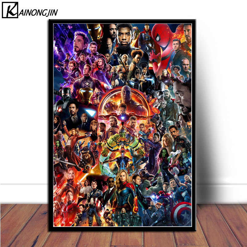 Hot 22 Marvel Cinematic Universe COLLAGE Art Poster Avengers End Game Posters and Prints Wall Picture Canvas Painting Home Decor