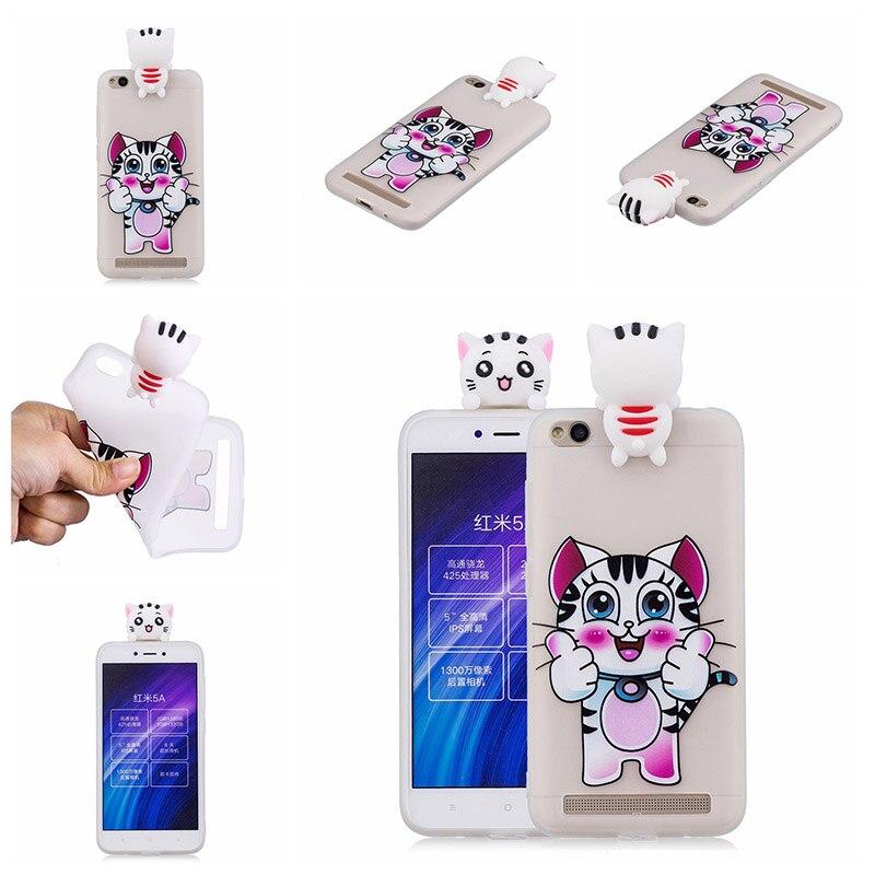 note 5 phone cases KeFo For Xiaomi Redmi 5A Note 5A Phone Cases 3D Squishy Animals Case Silicone Cover for Xiaomi Mi 5X MiA1 Mi5X (2) -