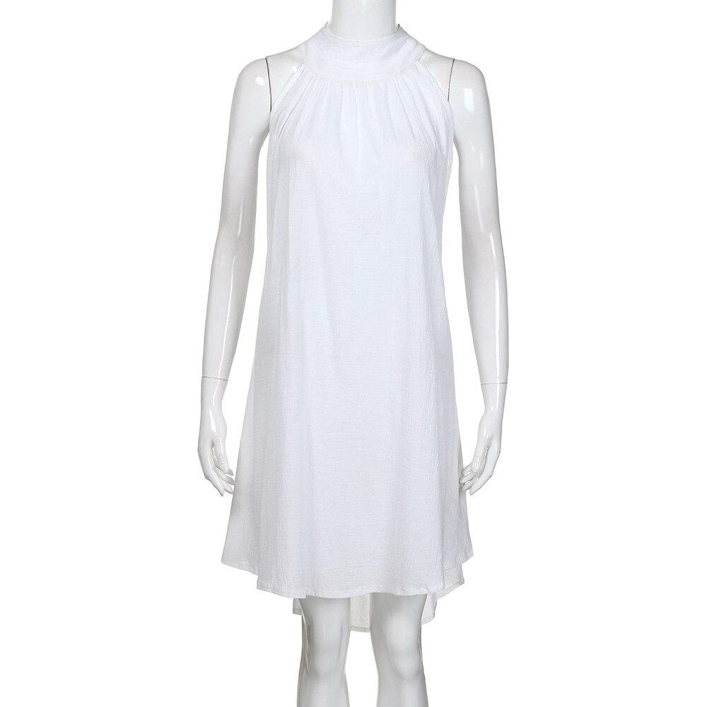 HTB1oLmlavvsK1Rjy0Fiq6zwtXXau Womens Holiday Irregular Dress Ladies Summer Beach Sleeveless Party Dress vestidos verano 2018 New Arrival dresses for women