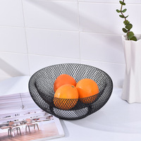 Creative Double Wrought Iron Fruit Storage Basket Modern Simple Living Room Home Dried Fruit Candy Storage Basket Fashion Gifts