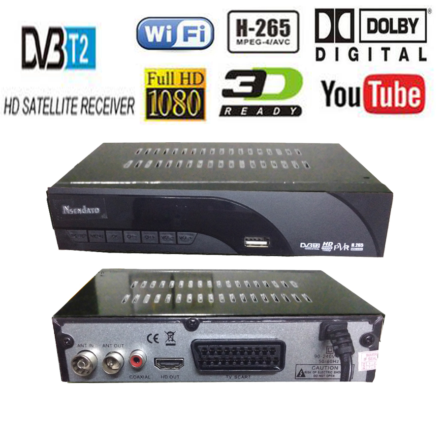 Digital DVB t2 DVB T H.265 HEVC HD Satellite 48~866M TV Receiver Supports DTS Youtube Wifi DVBT2 DVB-T MPEG-2 Set Top TV Box