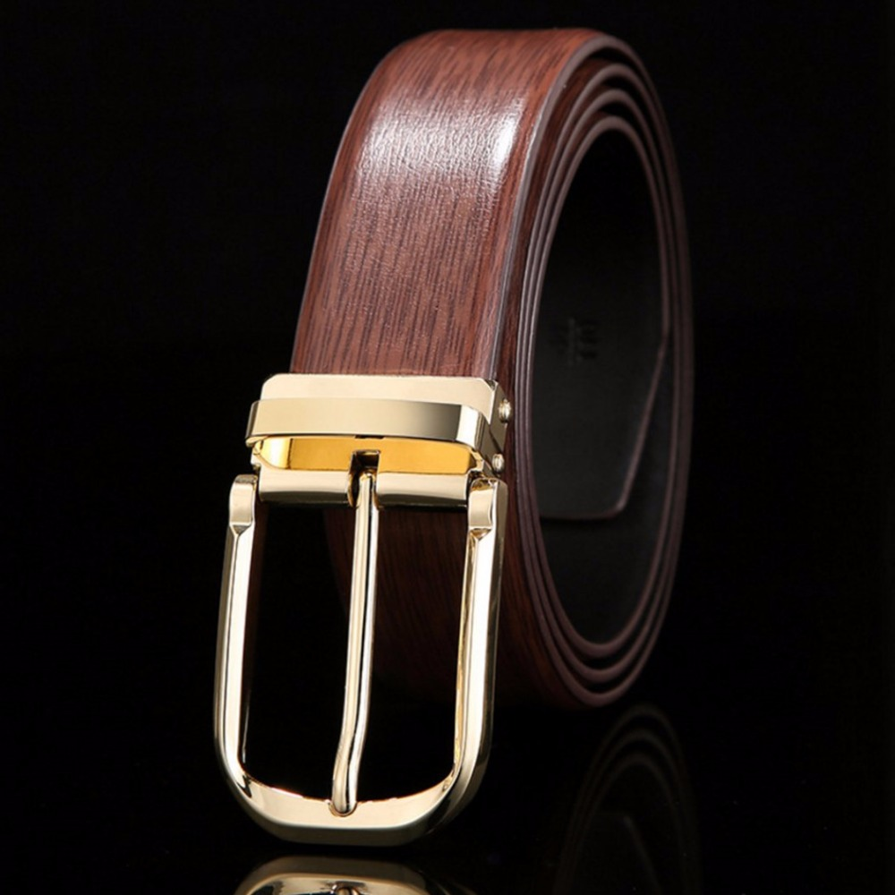 Constructive High Quality Leather Men Belts Colorful Black Blue White Brown Casual Belt Male Golden Silver Buckle Women Strap Belt Size 125cm A Plastic Case Is Compartmentalized For Safe Storage Men's Belts