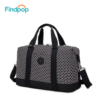 Findpop Nylon Women's Travel Bag 2018 Casual Plaid Travel Totes Large Capacity Waterproof Luggage Bag Business Travel Duffle Bag