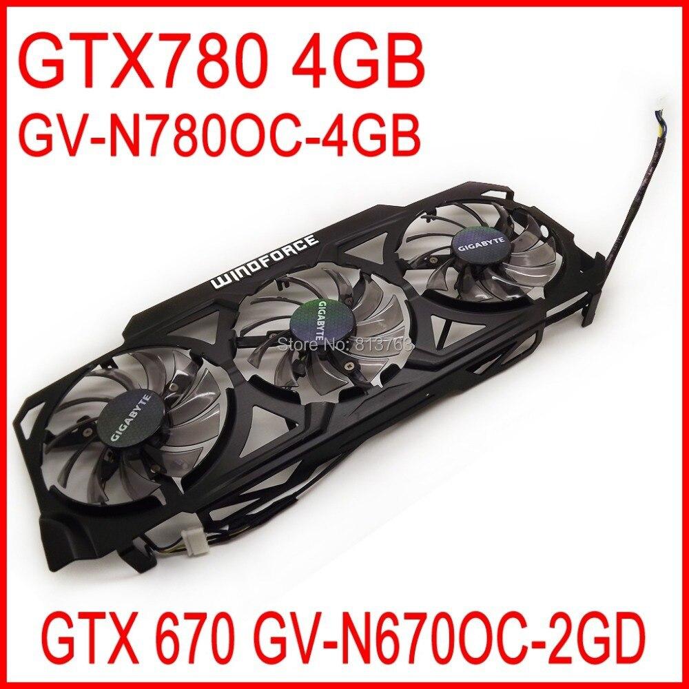 PLD08010S12HH Fan For Gigabyte GeForce GTX670 GV-N670OC-2GD / GTX780 4GB GV-N780OC-4GB Graphics Video Card Cooler Fan