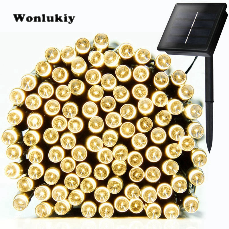 Able Wonlukiy Solar Lamp 22m 200 Led Fairy String Light Outdoor Lighting Waterproof For Garden Courtyard Roof Christmas Tree Holiday Delicious In Taste Led Lighting Led String