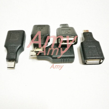 5pcs/lot  MICRO 5P to USB female OTG cable conversion head for Tablets