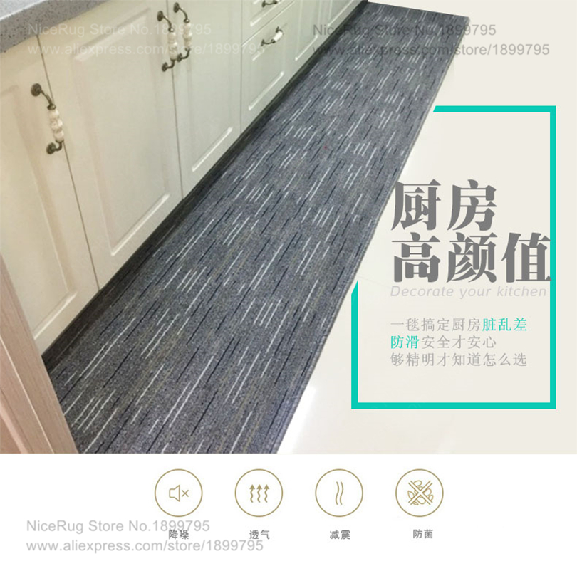 US $15.64 32% OFF|Modern Striped carpet for kitchen rugs Anti slip door  waterproof mat blanket for home decoration dropship-in Carpet from Home &  ...