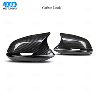Carbon Look Mirror Cover M3 M4 Look For BMW F20 X1 E84 M2 F87 F32 F33 F36 F22 F30 F34 M235i Rear View Mirror Cover gloss black