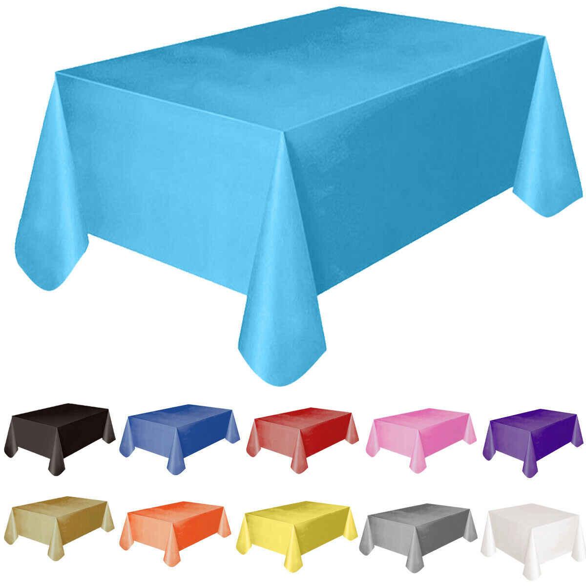 11 di colore di Colore Solido Casa Outdoor Wedding Hotel Banchetto della Festa Tovaglia 137x183cm Rettangolo di Tema Del Partito di Plastica Da Tavolo copertura Nuovo