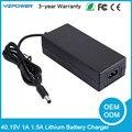 40.15 v 1a 1.5a smart lifepo4 carregador de bateria para 11 s lifepo4 bateria ventilador embutido