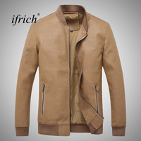 IFRICH Brand Motorcycle Leather Jackets Men Autumn and Winter Leather Clothing Men Leather Jackets Male Business Casual Coats