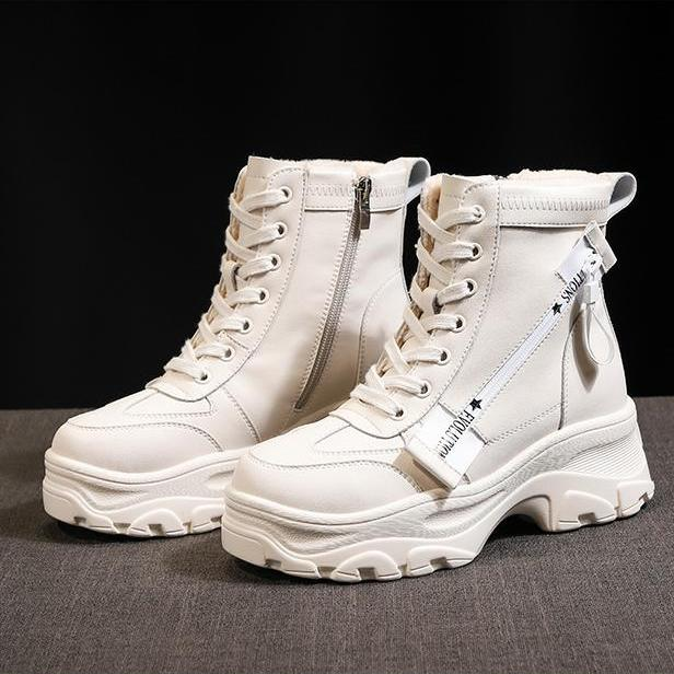 Women Snow Boots 2018 Winter Thick Bottom Low Tube Casual Boots Non-slip Student Boots Womens Casual Shoes Female Cotton Boots Handsome Appearance Ankle Boots