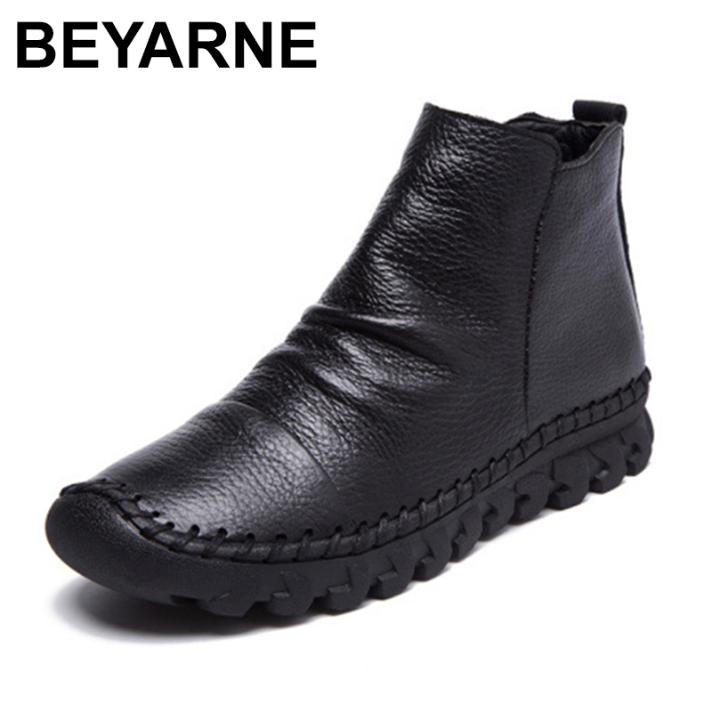 BEYARNES women Autumn soft outsole cowhide genuine leather flat slip on shoes comfortable handmade embroidered loafers original handmade autumn women genuine leather shoes cowhide loafers real skin shoes folk style ladies flat shoes for mom sapato