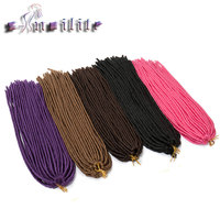 S Noilite 24 Inches 3 Pack Lot Crochet Braids Hair Extensions 110g Pack Synthetic Fiber Briading