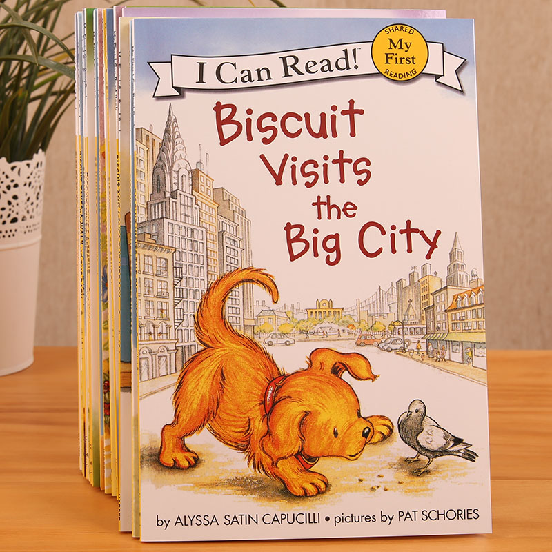 20 Books/set Biscuit Series English Picture Books I Can Read Children Story Book Early Educaction Reading Book For Baby Kids