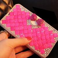 Luxury Women Girl Lady 3D Cute Rhinestone Diamond Leather Wallet Fundas For Motorola Moto Z2 Play
