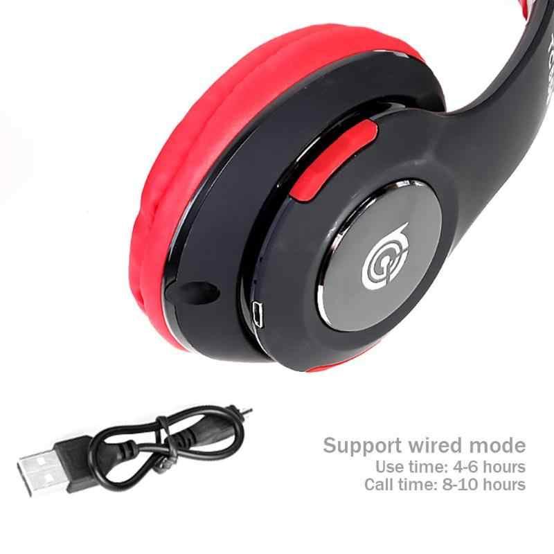 العالمي متعددة الوظائف طوي سماعة TC555 سماعة لاسلكية تعمل بالبلوتوث 4.1 سماعة للطي سماعة الموسيقى w/ميكروفون