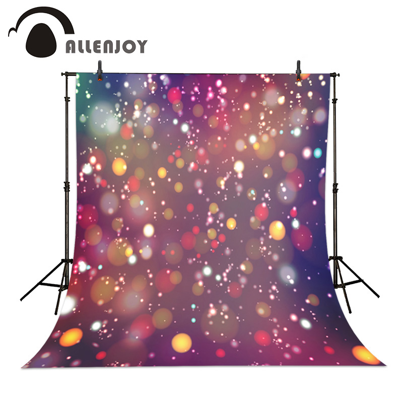 Photographic background Circle Light Stars Colors Glitter Lights Bokeh Circles Sparkl photo Allenjoy backdrops Valentine's Day