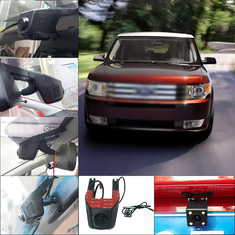 BigBigRoad For Ford FLEX 2009 Car Parking Camera APP control Car Wifi DVR Dashcam Fhd 1080P Dual Lens Car Black Box camcorder bigbigroad for toyota sequoia car parking camera app control car wifi dvr video recorder dual lens car black box camcorder