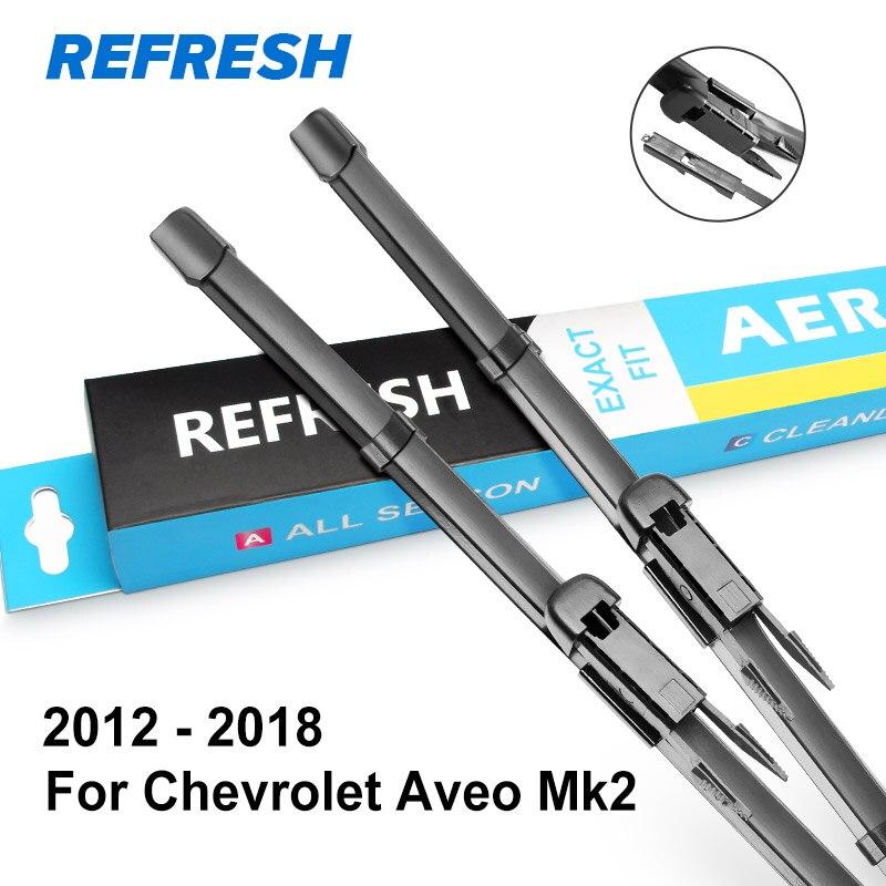 REFRESH Щетки стеклоочистителя для Chevrolet Aveo Fit Hook Arms / Pinch Tab Arms Модельный год с 1995 по год - Цвет: 2012 - 2018 ( Mk2 )