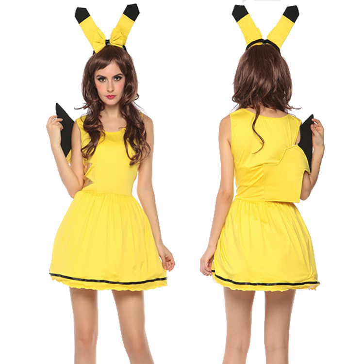 pikachu costumes women cosplay adult animal costume fancy sexy dress clubwear party wear christmas halloween party - Pikachu Halloween Costume Women