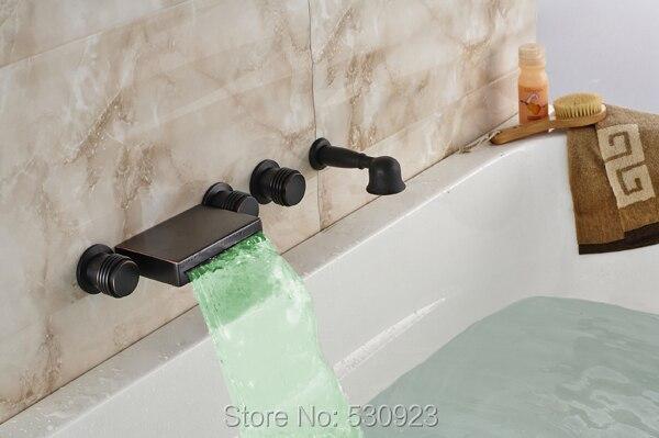 new arrival color changing led bathtub faucet retro style oil rubbed bronze mixer tap shower faucet