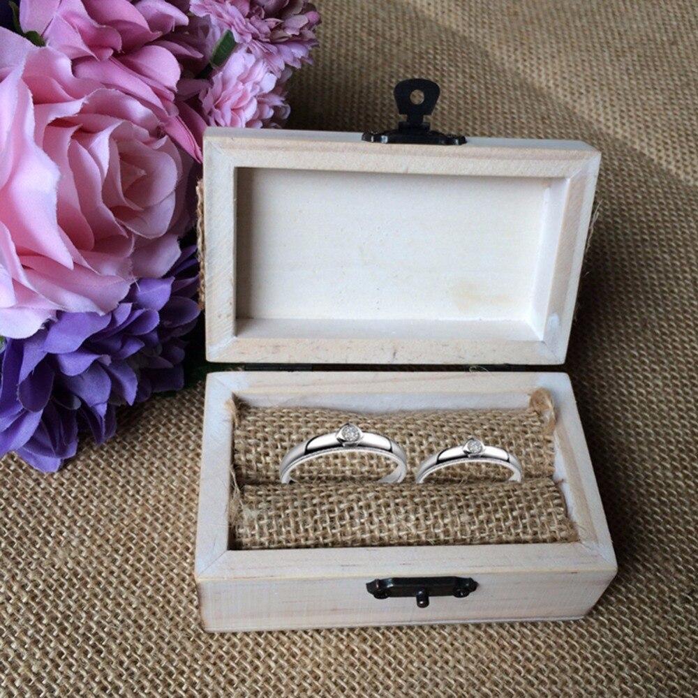 Holz Hochzeit Ring Box Personalisierte Herz Muster Holz Schmuck
