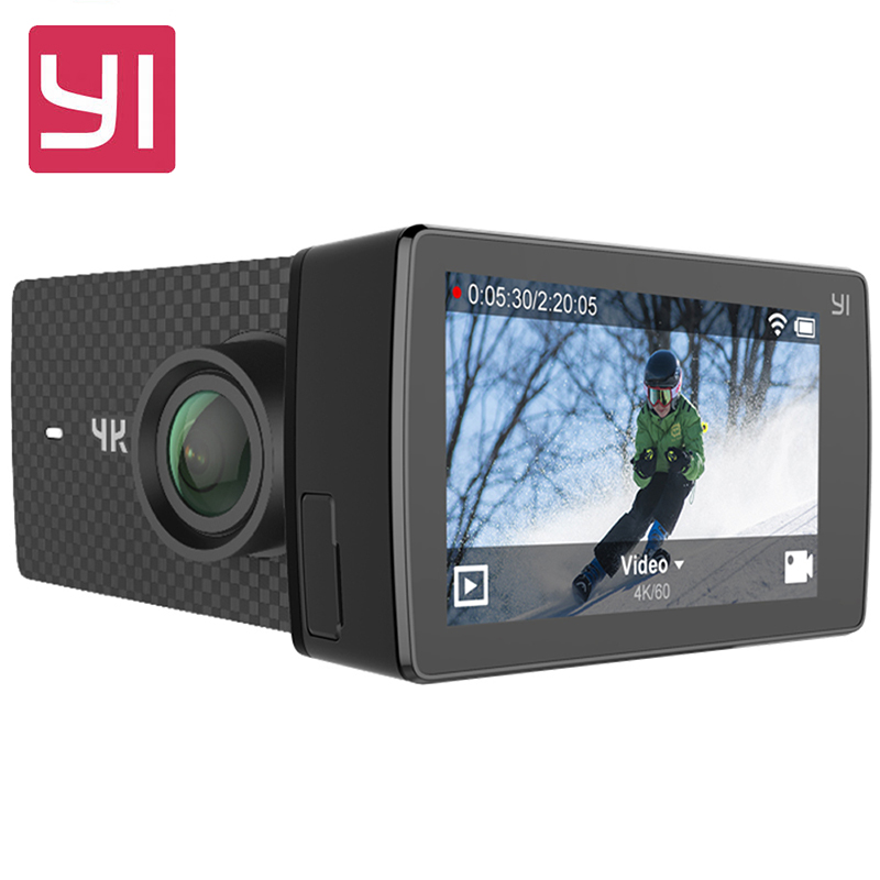 International Edition YI 4K+ Action Camera Ambarella H2 4K/60fps 12MP 155 Degree 2.19 RAW YI 4K Plus Sports Action Camera yi 4k action camera black 2 19lcd screen 155 degree eis wifi international edition ambarella a9se75 12mp cmos 5ghz wi fi