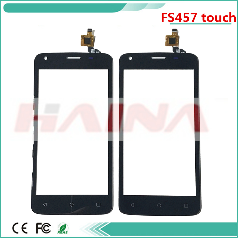 Mobile Phone Touch Screen Front Glass Lens Panel For Fly FS457 Nimbus 15 Touchscreen Digitizer Sensor 3m Tape image