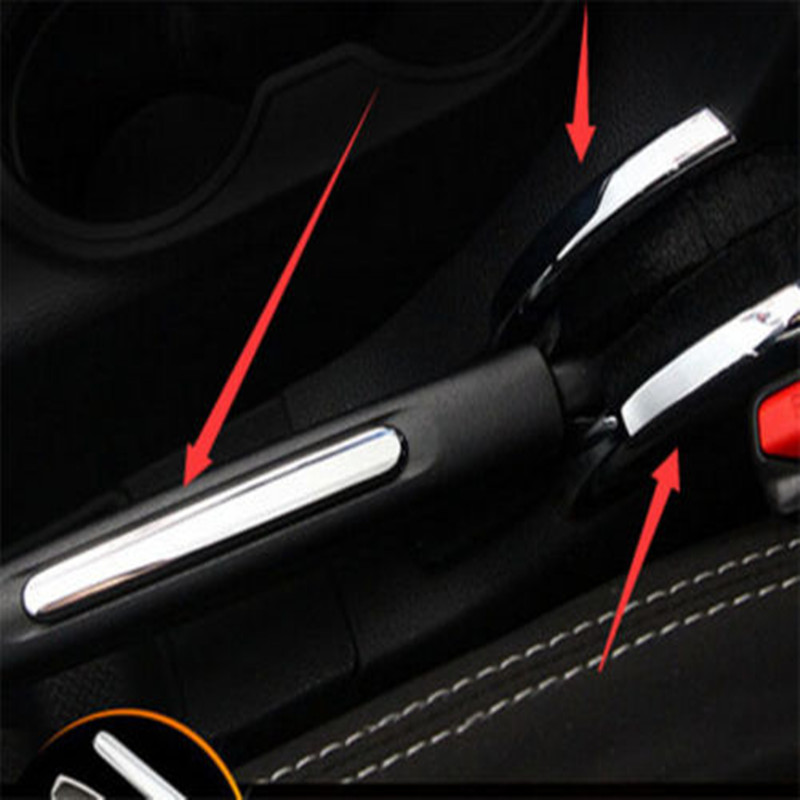 Car Inner Chrome ABS Hand Brake hand Parking Brake Cover Trim Moulding Styling Decors Sticker Fir For Jeep Wrangler 2011-2015