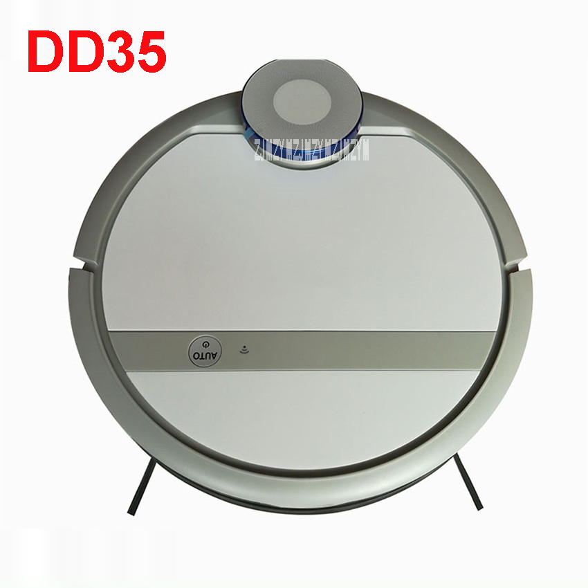DD35 110-220V Mini Robot Vacuum Cleaner for Home Automatic Sweeping Dust Sterilize Smart Planned Mobile App 300ML Water tank cen546 110 220v mini robot vacuum cleaner for home automatic sweeping dust sterilize smart planned mobile app 0 3l dust box