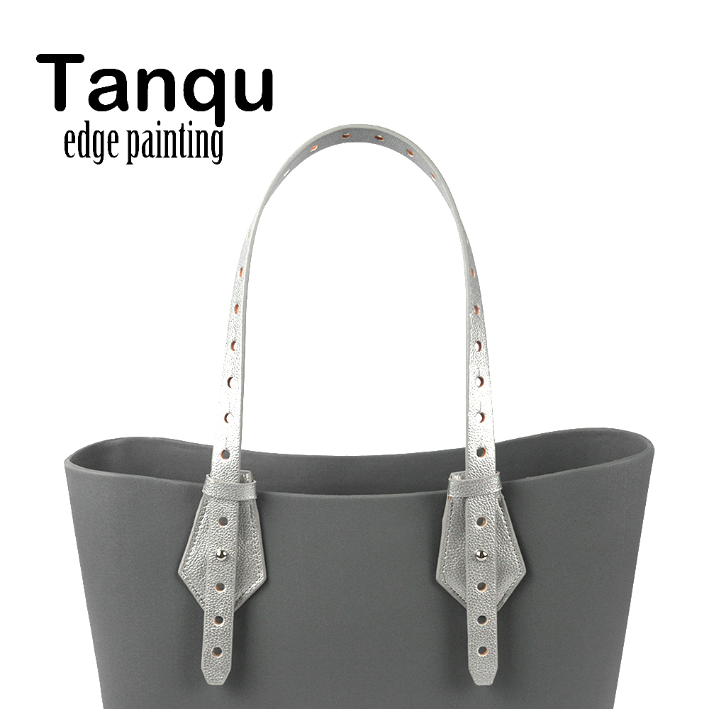 TANQU Bidirectional Adjustable Edge Painting Leather Belt Handle with Clasp for Obag Basket Bucket City Chic Women Handbag O Bag tanqu tela insert lining for o chic ochic colorful canvas inner pocket waterproof inner pocket for obag