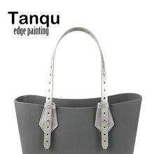 Tanqu双方向調整可能なエッジ塗装革ベルトハンドルのためのクラスプ付obagバスケットバケット市シックな女性ハンドバッグoバッグ