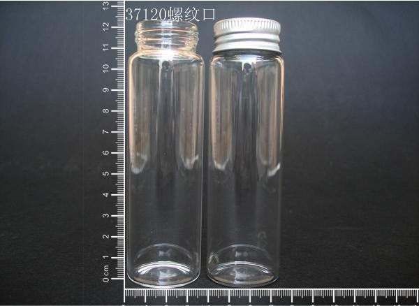 10 pcs 90ml 37x120mm Small Clear Glass Bottle Vial Pendant With Aluminum Lid For Wedding Holiday Decoration Christmas Gifts