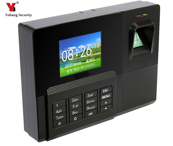 YobangSecurity 2.8 Inch TCP/IP Biometric Fingerprint Attendance Time Clock+ID Card Reader+USB Employee Checking-in Recorder free shipping mx629 tcp ip 2 4 inch screen biometric fingerprint time attendance usb office time recorder support id