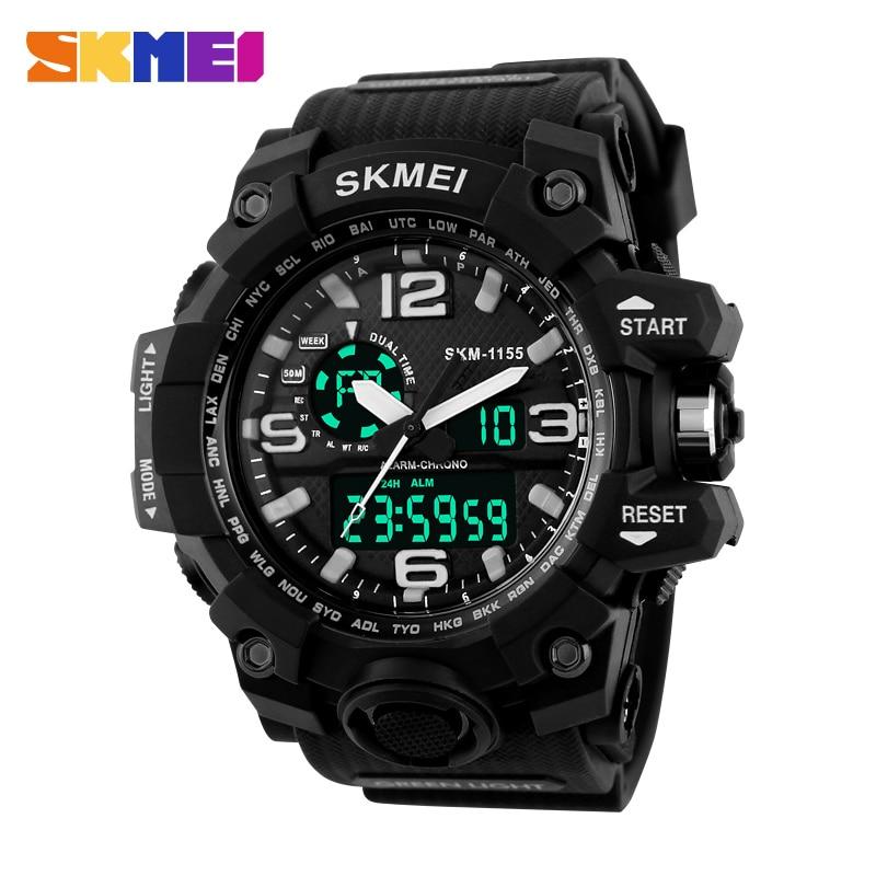 Big Dial 2016 SKMEI Digital Watch Military Army Men Watch Water Resistant Date Calendar LED Sports