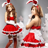 New Hot Women Sexy Lingerie Christmas Cosplay Uniform Cute Bunny Costume Erotic Lingerie Sex Clothes Sexy