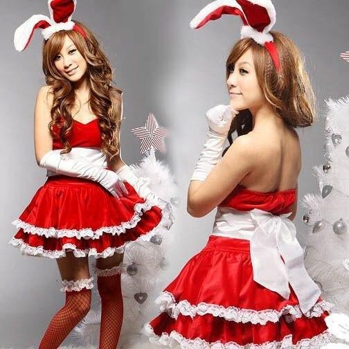 Yeni Sıcak Kadın Seksi Iç Çamaşırı Noel Cosplay Üniforma Sevimli Bunny Kostüm Erotik Iç Çamaşırı Seks Elbise Seksi Iç Çamaşırı Womens Elbise