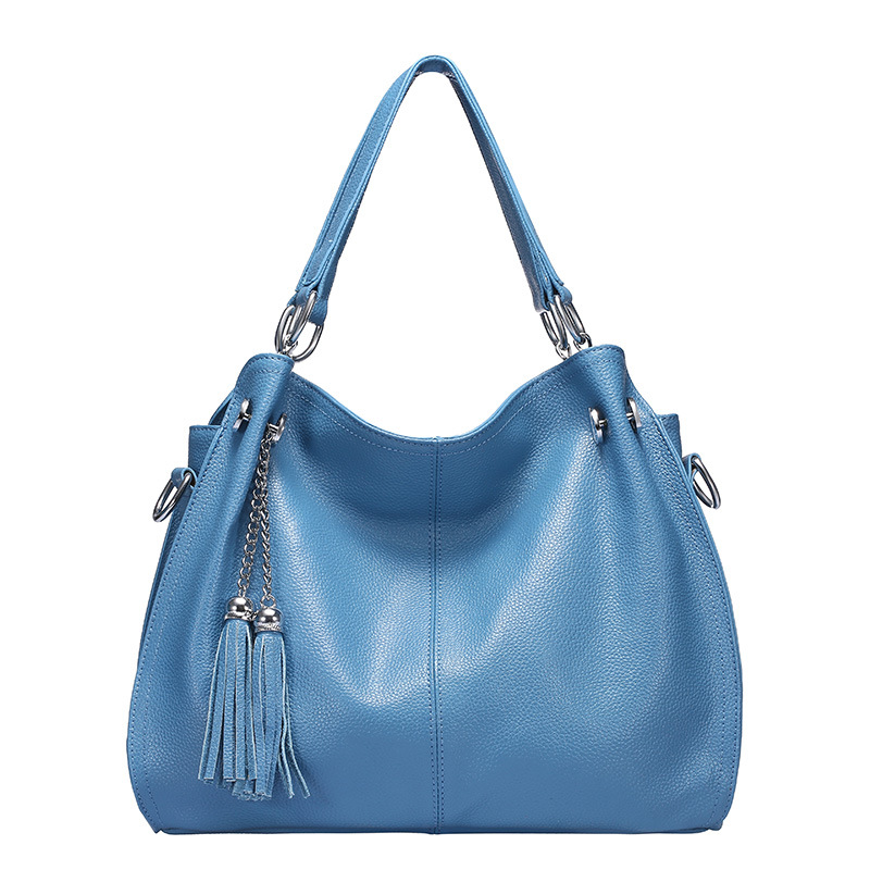 New Tassels Real Leather Women Shoulder Bags Fashion Women Hand Bag Genuine Leather Female Bag Ladies Bags Wholesale in Shoulder Bags from Luggage Bags