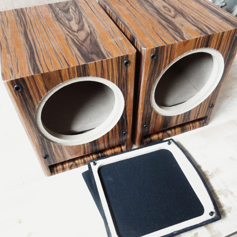 IWISTAO HIFI 6.5 inch Full Range Speaker Empty Cabinet Wooden Box Front Labyrinth Guide Hole 15mm MDF Board Wine-red DIY Audio