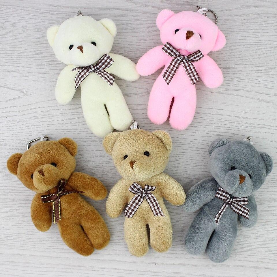 <font><b>New</b></font> 11cm 12pcs <font><b>Lovely</b></font> <font><b>Teddy</b></font> <font><b>bear</b></font> plush toys small doll <font><b>bears</b></font> for wedding cartoon flower bouquet christmas Promotion Gifts