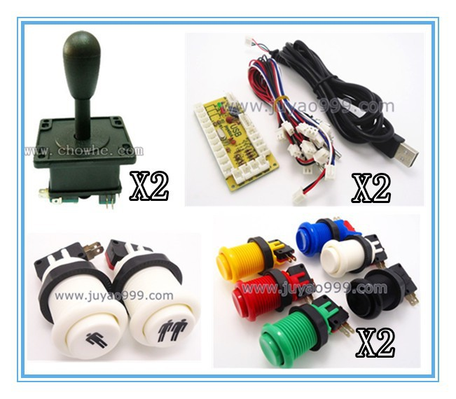 FREE SHIPPING 1 kit of single player PC joystick PCB, USB joystick PCB with wires, USB controls to Jamma arcade games image