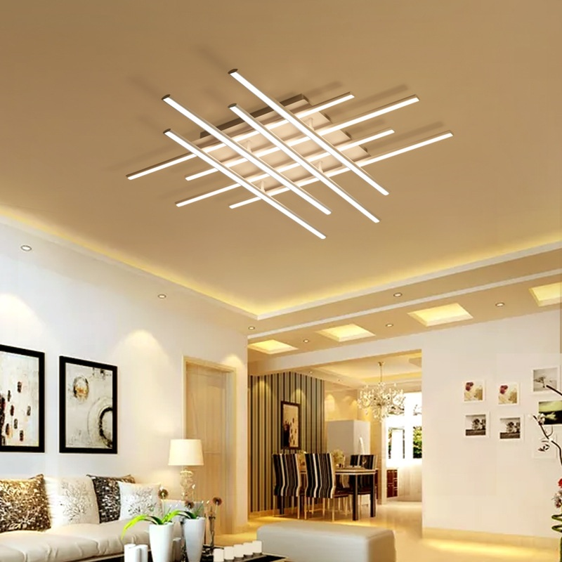 Bar Shaped Creative LED Ceiling Lights Living Room Bedroom Study Restaurant  Ceiling Lamp Commercial Lighting