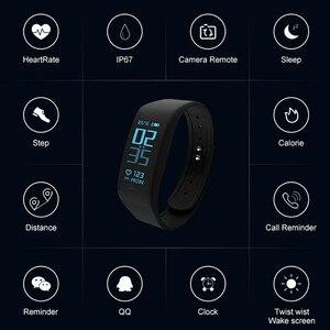 Image 5 - Smart Armband Fitness tracker Heart Rate Monitor passometer call nachricht erinnerung Kompatibel für andriod ios pkhuawei Band