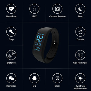 Image 5 - Smart Bracelet Fitness tracker Heart Rate Monitor passometer call message reminder Compatible for andriod ios pkhuawei Band