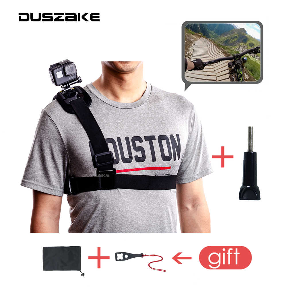 DUSZAKE DG26 Mount For Gopro Accessories Strap For Gopro Accessories Belt For Go Pro 5 Xiaomi Yi 4K Strap For Go Pro 6 Eken H9